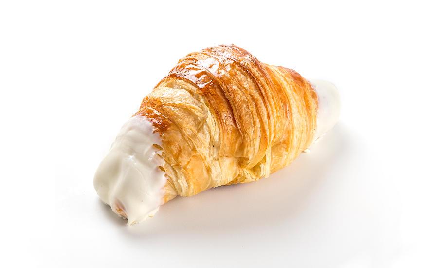 Croissant de chocolate blanco